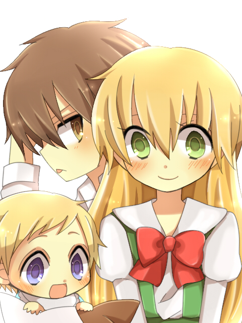 Tags: Anime, Yir, Daa! Daa! Daa!, Kouzuki Miyu, Saionji Kanata, Ruu (Daa! Daa! Daa!), Pixiv, Fanart