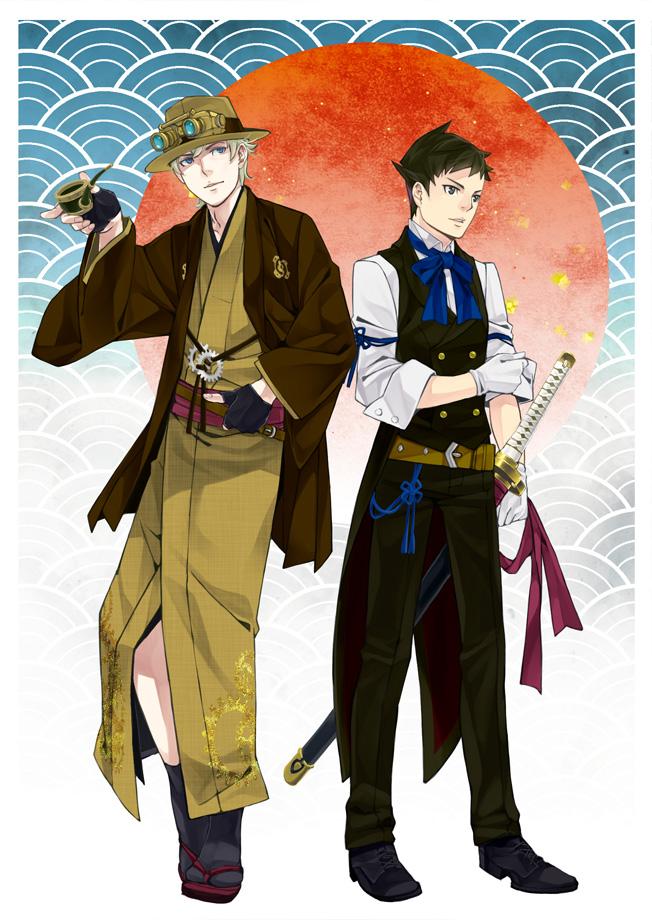 Tags: Anime, Pixiv Id 2737799, Dai Gyakuten Saiban: Naruhodou Ryuunosuke no Bouken, Sherlock Holmes (Dai Gyakuten Saiban), Naruhodo Ryunosuke, Fanart From Pixiv, Pixiv, Fanart