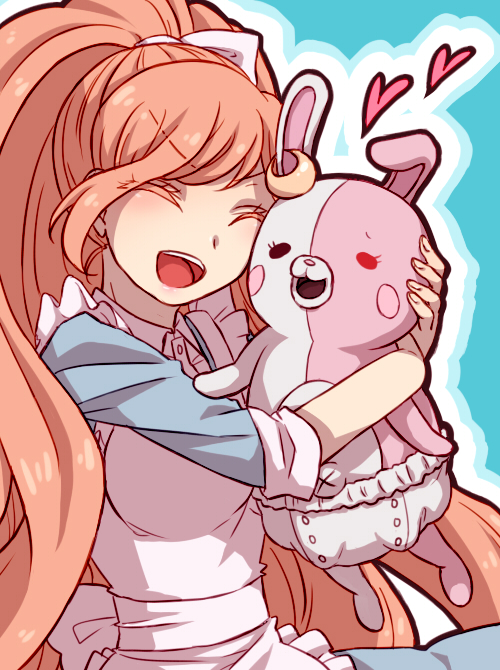 Tags: Anime, Pixiv Id 3856587, Danganronpa 3: The End of Kibougamine Gakuen - Zetsubou-hen, Super Danganronpa 2, Yukizome Chisa, Monomi (Super Danganronpa 2), Mobile Wallpaper