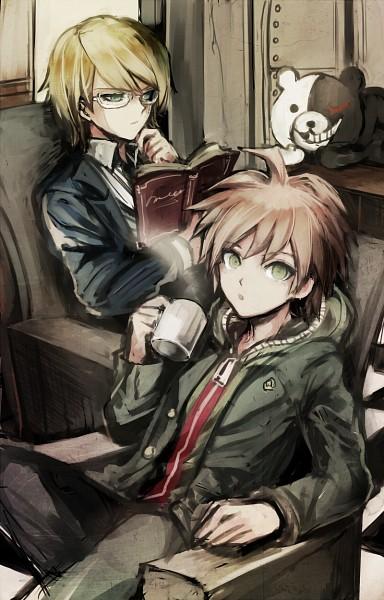 Tags: Anime, Pixiv Id 3777551, Danganronpa, Naegi Makoto, Monokuma, Togami Byakuya