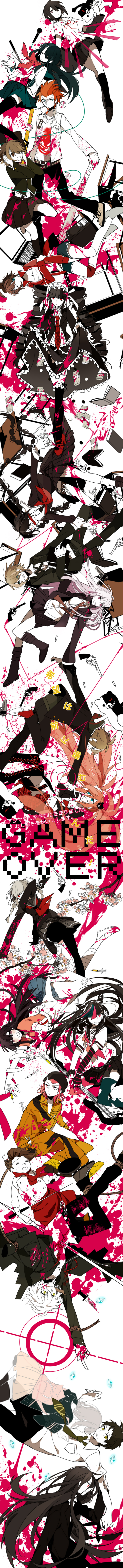 Tags: Anime, Akina422, Super Danganronpa 2, Danganronpa, Ikusaba Mukuro, Hanamura Teruteru, Maizono Sayaka, Tsumiki Mikan, Togami Byakuya, Kuwata Leon, Hinata Hajime, Celestia Ludenberg, Souda Kazuichi