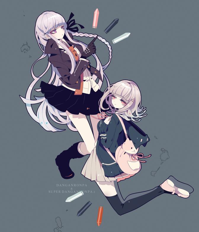 Tags: Anime, Shikimi, Super Danganronpa 2, Danganronpa, Kirigiri Kyouko, Nanami Chiaki, Fanart From Pixiv, Fanart, Pixiv