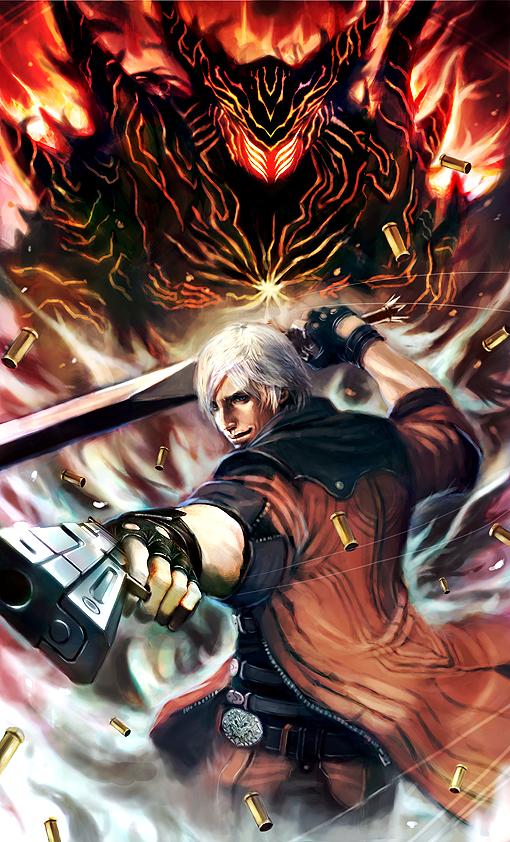 Tags: Anime, Longai, Devil May Cry, Dante, deviantART, Mobile Wallpaper