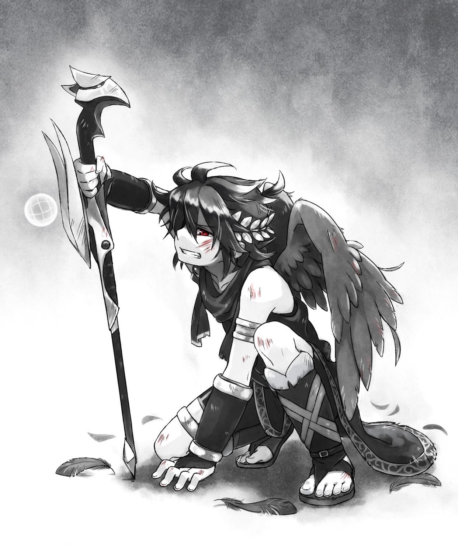 Dark Pit Kid Icarus Zerochan Anime Image Board