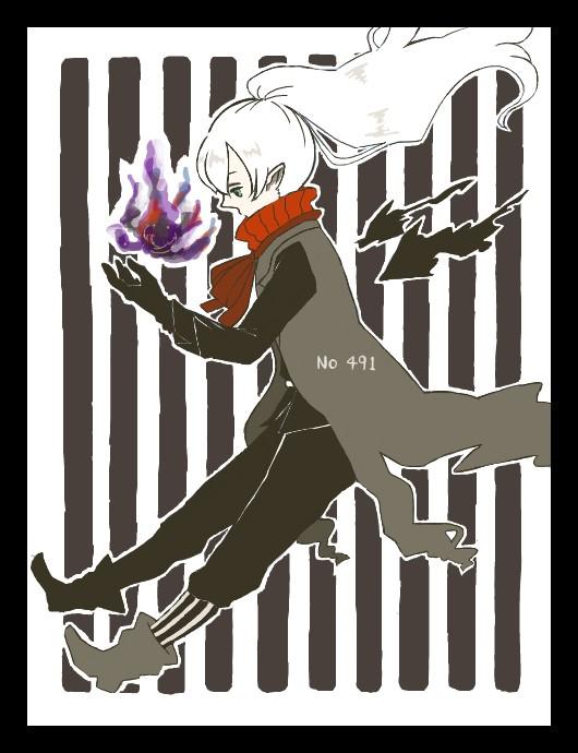 Tags: Anime, Pixiv Id 2764269, Pokémon, Darkrai, Purple Flame, Pixiv, Legendary Pokémon