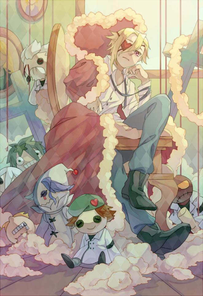 Tags: Anime, thorax, GUILTY CROWN, Segai Waltz Makoto, Daryl Yan, Tsutsugami Gai, Rowan, Mobile Wallpaper