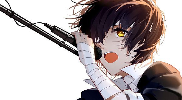 Tags: Anime, Pixiv Id 3954705, Bungou Stray Dogs, Dazai Osamu, Bandaged Neck, One Eye Showing, Bandage Over One Eye