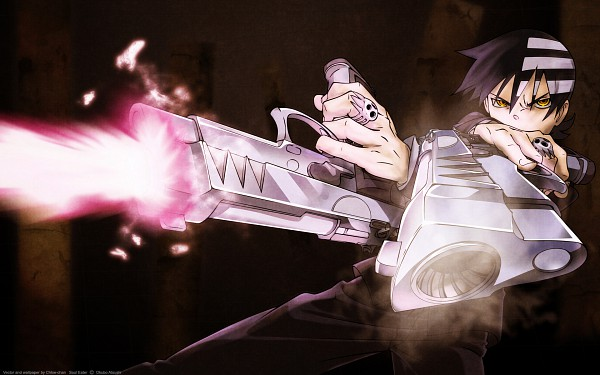 Tags: Anime, SQUARE ENIX, SOUL EATER, Death the Kid, Aiming At Camera, Ring, Black Background