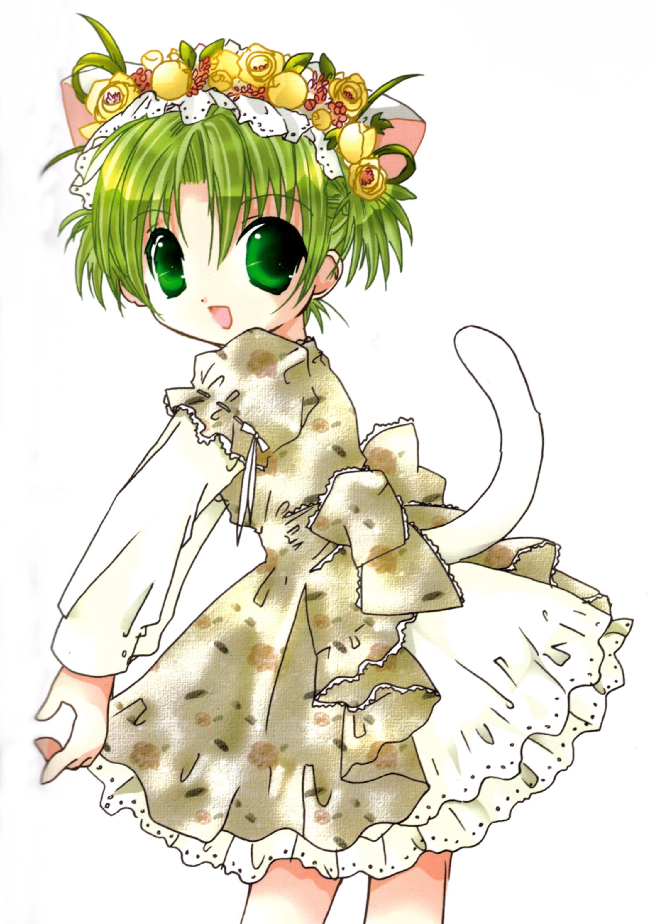 koge donbo green hair zerochan anime image board