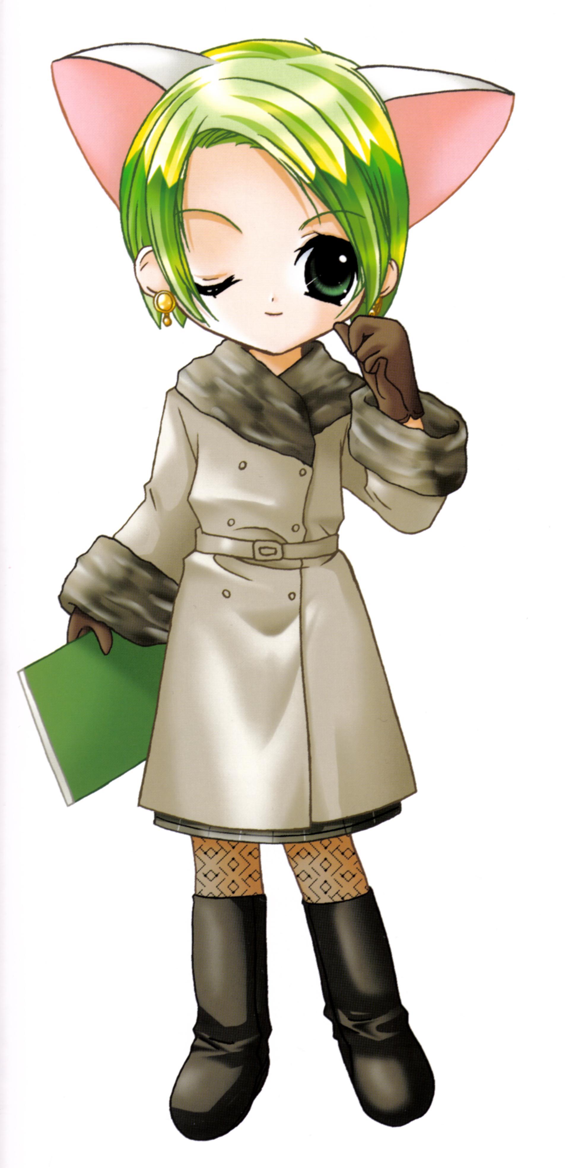 di gi charat green hair page 6 zerochan anime image board