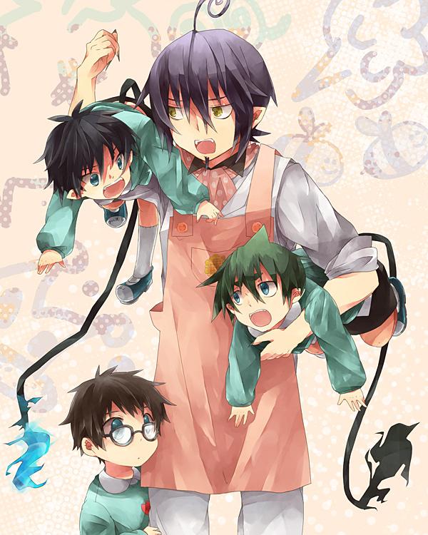 Tags: Anime, 310 (Satopoppo), Ao no Exorcist, Mephisto Pheles, Amaimon, Okumura Yukio, Okumura Rin, D:<, Pixiv, Fanart, Demon Brothers