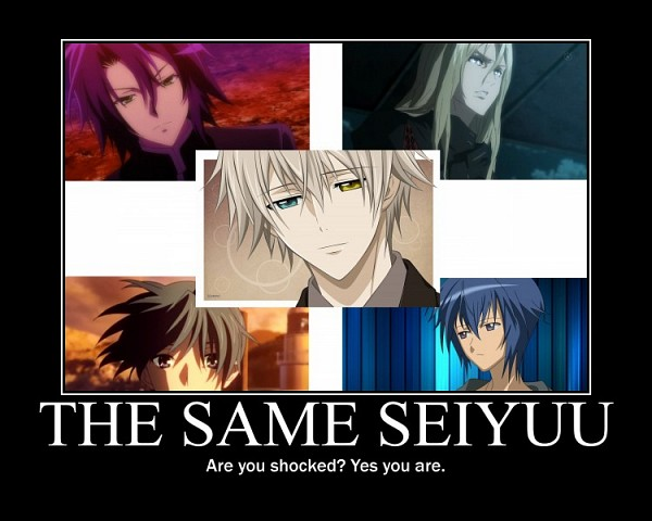 Tags: Anime, Morrow, Shugo Chara!, Dear Girl ~stories~, GUILTY CROWN, Inu x Boku SS, Itsuka Tenma no Kuro Usagi