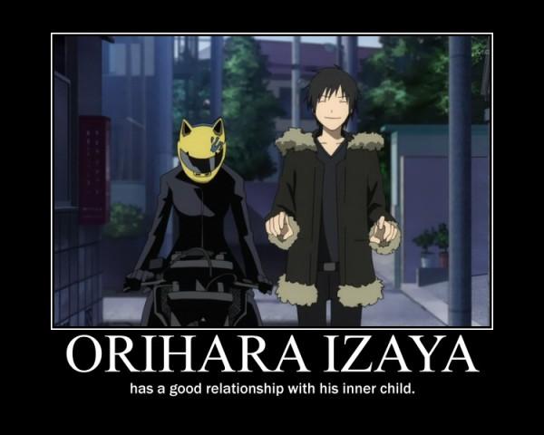 Tags: Anime, DURARARA!!, Orihara Izaya, Sturluson Celty, Helmet, Motorcycle