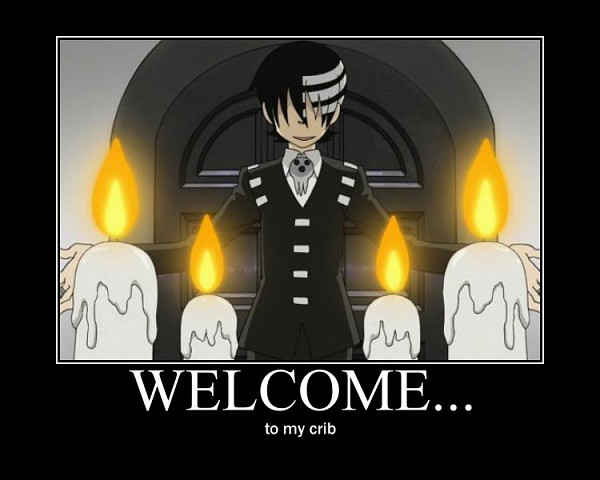 Tags: Anime, SQUARE ENIX, SOUL EATER, Death the Kid, Text: Welcome, Candle