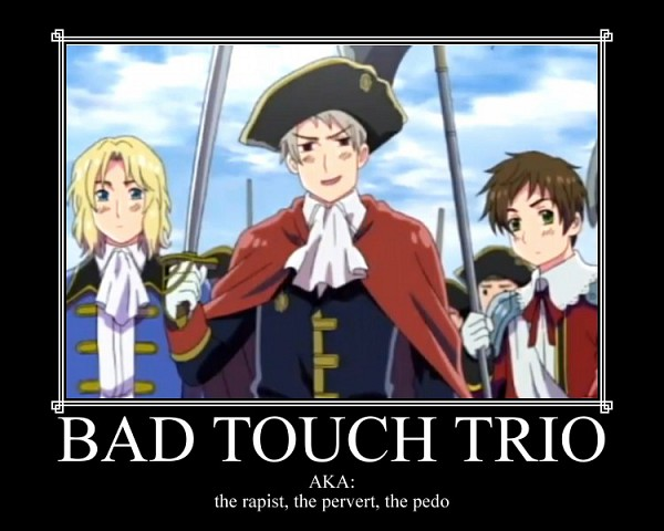Tags: Anime, Axis Powers: Hetalia, France, Spain, Prussia, Military Hat
