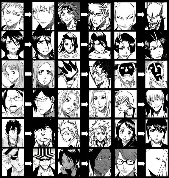 Tags: Anime, Tite Kubo, BLEACH, Ichimaru Gin, Kuchiki Rukia, Ishida Uryuu, Kurotsuchi Mayuri