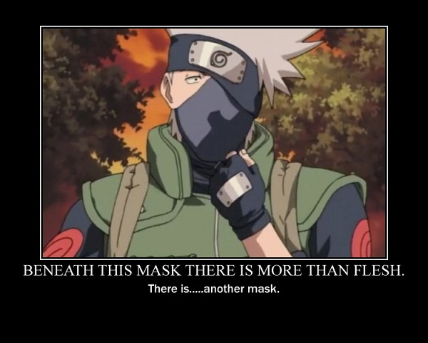 Tags: Anime, NARUTO, Hatake Kakashi, Demotivational Poster, V For Vendetta