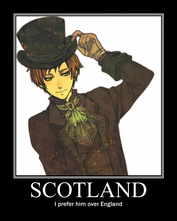 Tags: Anime, Axis Powers: Hetalia, United Kingdom, Scotland, Demotivational Poster, Allied Forces