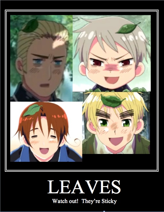 Tags: Anime, Axis Powers: Hetalia, Pikmin, Germany, North Italy, Pikmin (Character), Prussia, United Kingdom, Pikmin (Parody), Demotivational Poster, Fanart