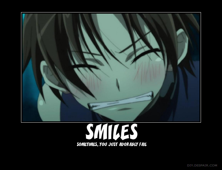 Anime Characters Smiling : Demotivational poster image  zerochan anime