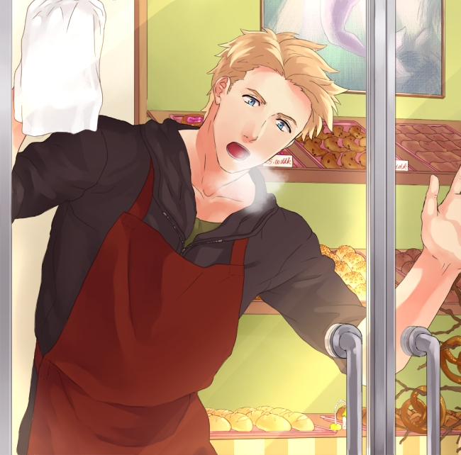 Tags: Anime, 01rosso, Axis Powers: Hetalia, Denmark, Store, Cleaning, Fanart From Pixiv, Pixiv, Fanart, Nordic Countries