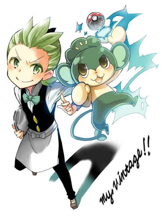 Tags: Anime, Pixiv Id 4348467, Pokémon, Pansage, Dento (Pokémon), Pixiv, Fanart From Pixiv, Fanart, Cilan