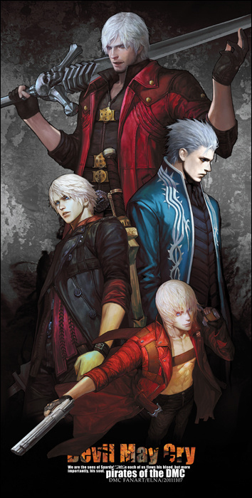 Tags: Anime, Fanart, Devil May Cry, Nero, Dante