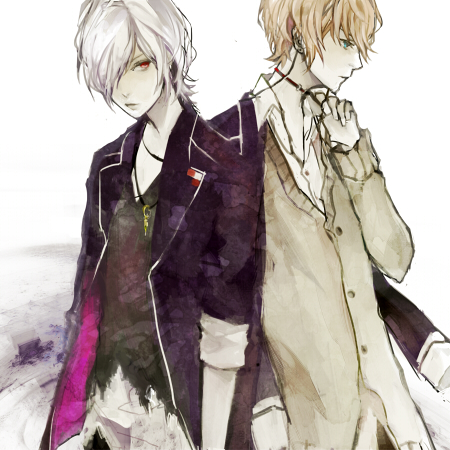 Tags: Anime, Hoka, Diabolik Lovers ~Haunted dark bridal~, Sakamaki Shuu, Sakamaki Subaru, Fanart From Pixiv, Pixiv, Fanart