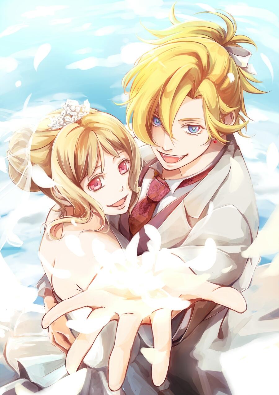 Anime lovers wedding