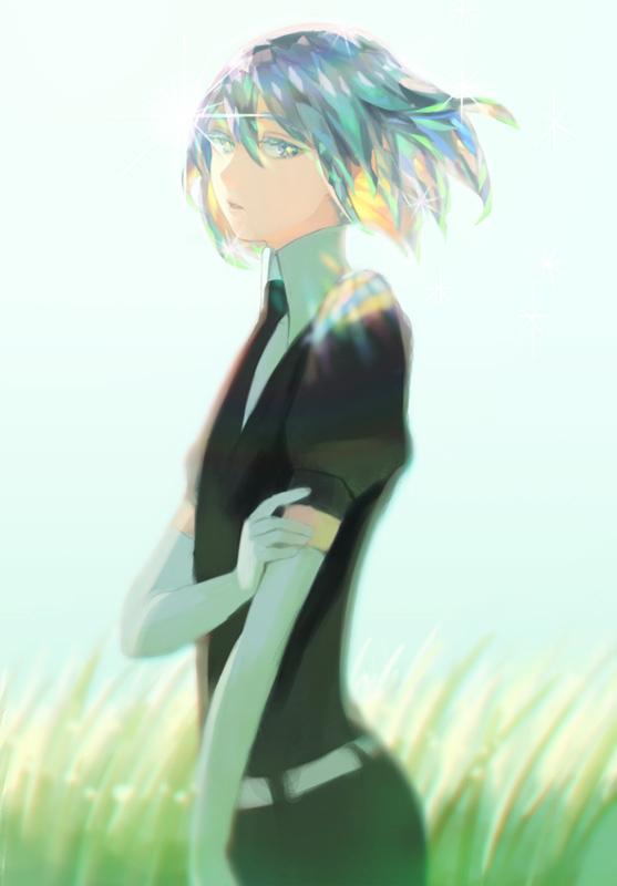 Tags: Anime, Hiko (Scape), Houseki no Kuni, Diamond (Houseki no Kuni), Beautiful Eyes, Fanart From Pixiv, Mobile Wallpaper, Pixiv, Fanart
