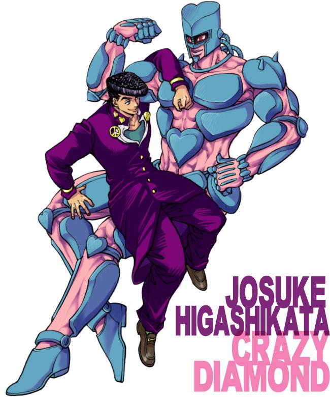 Tags: Anime, Pixiv Id 1146041, Diamond Is Unbreakable, JoJo no Kimyou na Bouken, Higashikata Jousuke, Crazy Diamond, Fanart, Stand