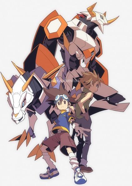 Tags: Anime, Hajime (Hajime-ill-1st), Digimon Adventure, MetalGarurumon, Yagami Taichi, WarGreymon, Ishida Yamato