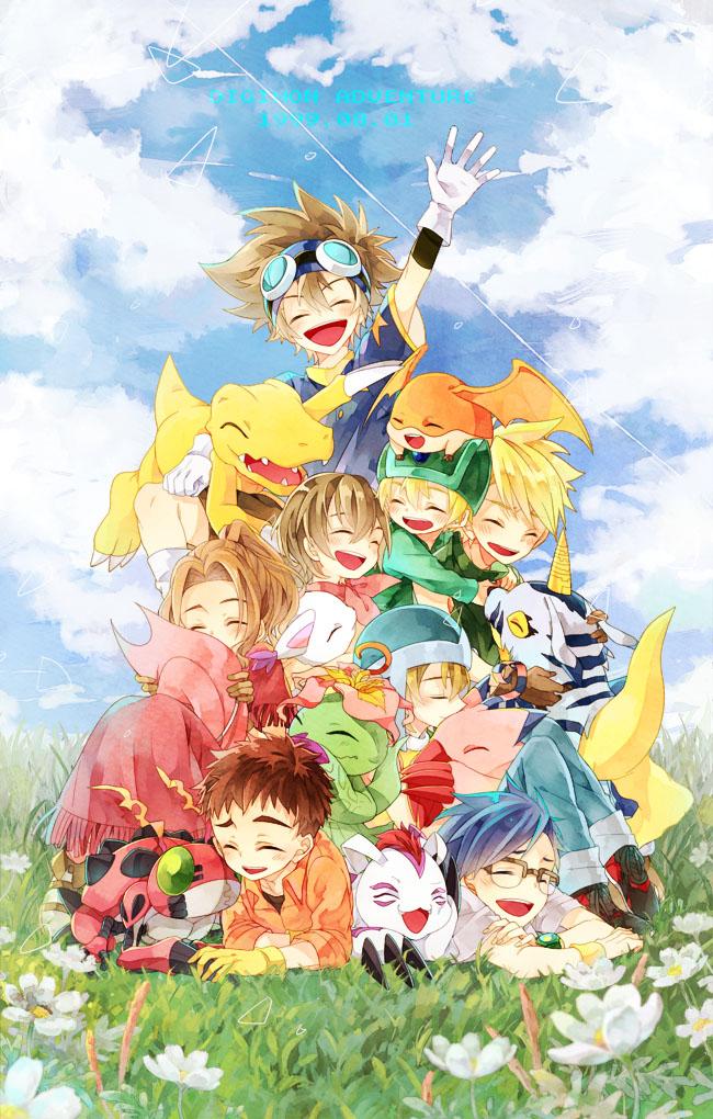 Tags: Anime, Kona081, Digimon Adventure, Ishida Yamato, Gomamon, Patamon, Agumon, Tachikawa Mimi, Piyomon, Palmon, Gatomon, Tentomon, Takenouchi Sora