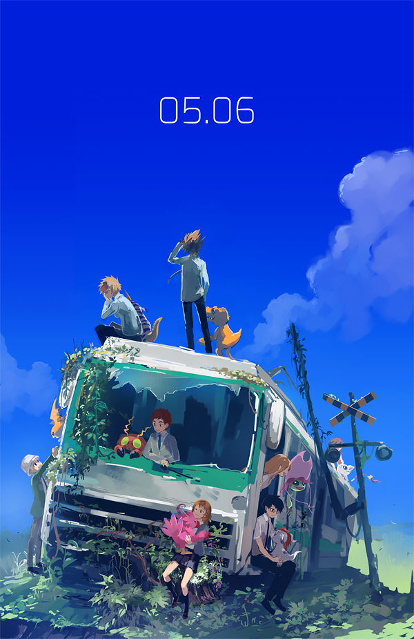 Tags: Anime, Nuriko-kun, Digimon Adventure, Gabumon, Tachikawa Mimi, Piyomon, Gomamon, Gatomon, Agumon, Palmon, Yagami Hikari, Tentomon, Yagami Taichi