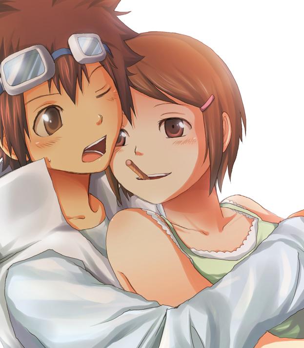 Tags: Anime, Digimon Adventure, Motomiya Daisuke, Yagami Hikari, Fanart, Artist Request