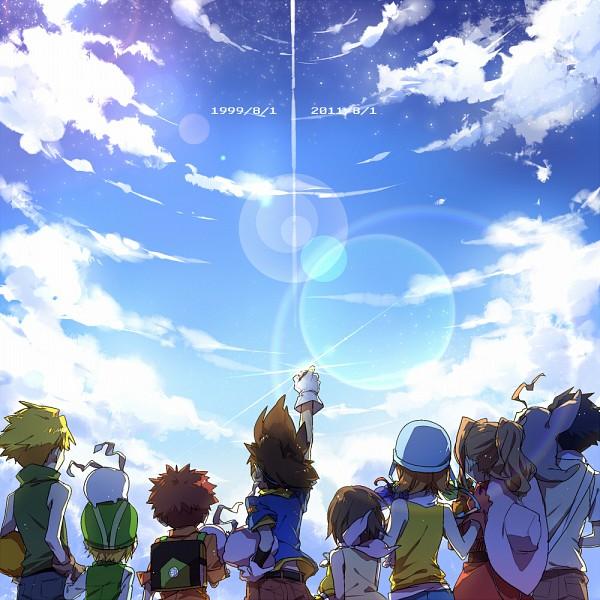 Tags: Anime, Pointing, Digimon, Takaishi Takeru, Yagami Hikari, Digimon Adventures, Ishida Yamato