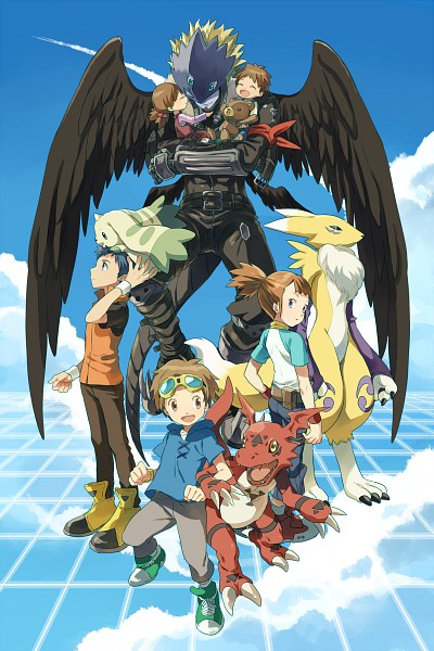 Tags: Anime, Pixiv Id 6620471, Digimon Tamers, Matsuda Takato, Mako (Digimon), Li Jianliang, Beelzemon
