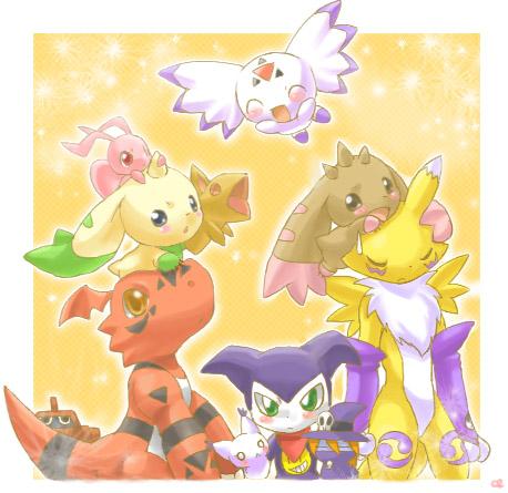 Tags: Anime, Inano2009, Digimon Tamers, Lopmon, Wizardmon, Culumon, Terriermon, Guardromon, MarinAngemon, Guilmon, Renamon, Gatomon, Impmon