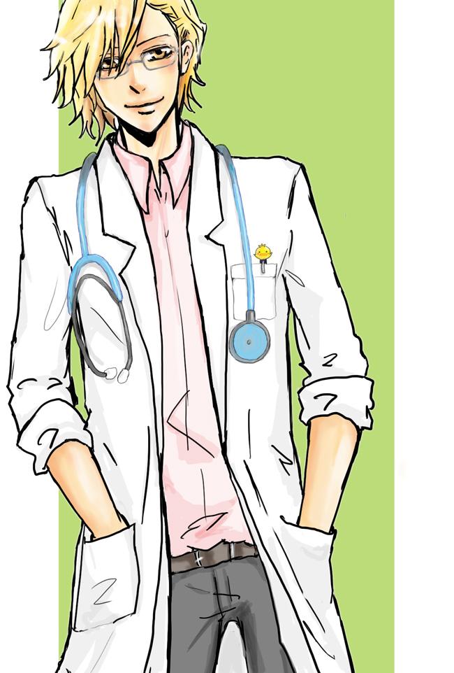 Tags: Anime, Katekyo Hitman REBORN!, Dino Cavallone, Doctor, Stethoscope, Mobile Wallpaper
