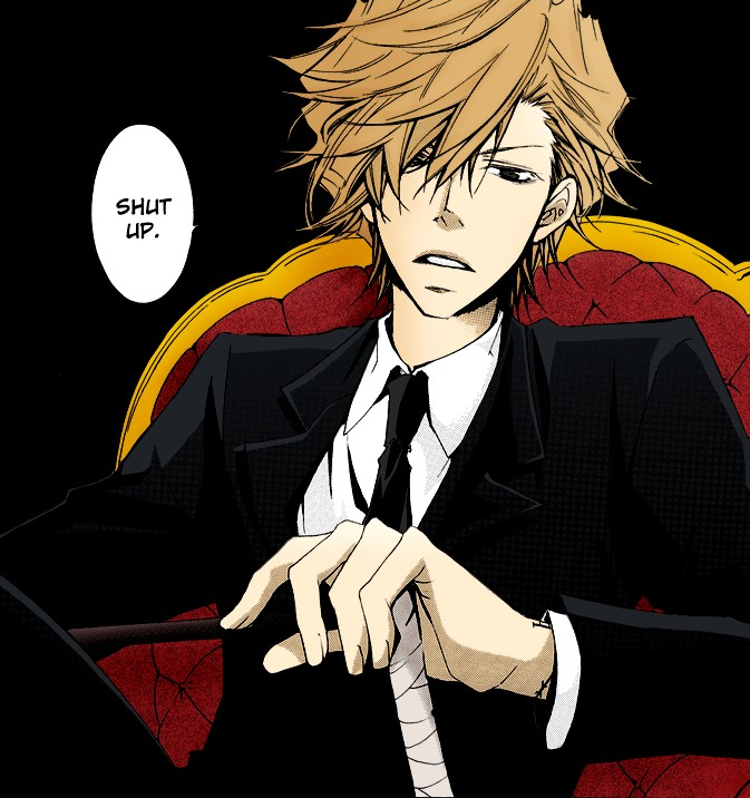 Tags: Anime, Hidoimurasaki, Lion Punch, Katekyo Hitman REBORN!, Dino Cavallone, Colorization