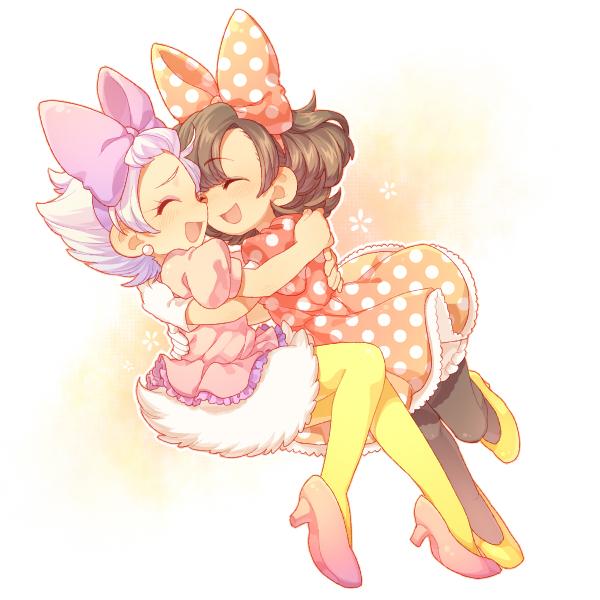 Tags: Anime, Kirita, Daisy Duck, Minnie Mouse, Yellow Legwear, Yellow Footwear, Disney, Pixiv, Fanart From Pixiv, Fanart