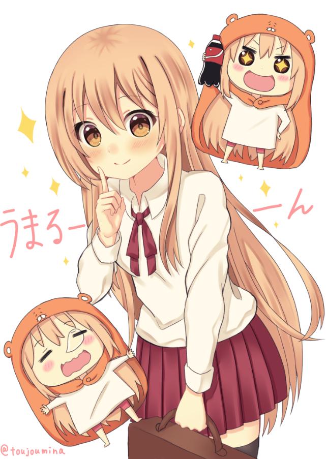 Tags: Anime, Pixiv Id 8703885, Himouto! Umaru-chan, Doma Umaru, PNG Conversion, Mobile Wallpaper