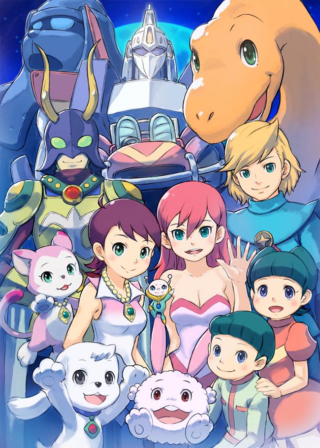 Tags: Anime, Doraemon, Piisuke (Doraemon), Mangetsu Miyako, Eru, Riruru, Charmy, Kuntakku, Dinosaur, Zanda Clause, Banhou, Ropppel, Cream