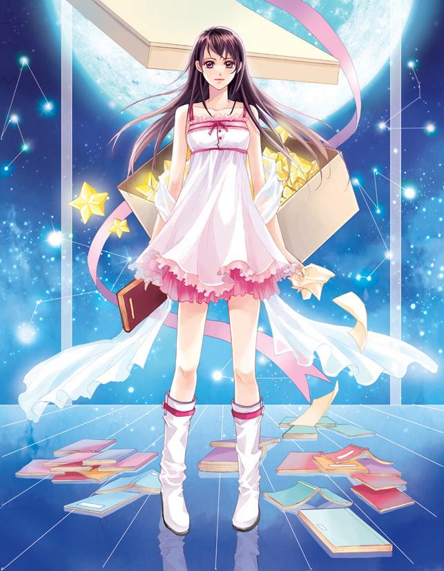 Tags: Anime, Dorris, Pentagram, Constellation, Pixiv