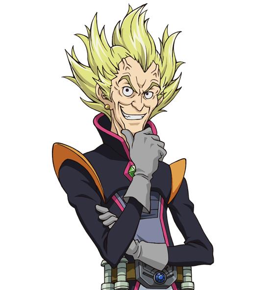 Tags: Anime, Studio Gallop, Yu-Gi-Oh!, Yu-Gi-Oh! ZEXAL, Dr. Faker, Single Earring, Chin In Hand