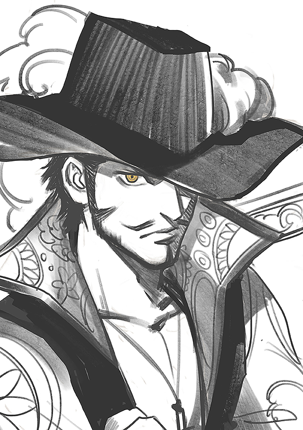 Dracule Mihawk Mobile Wallpaper Zerochan Anime Image Board