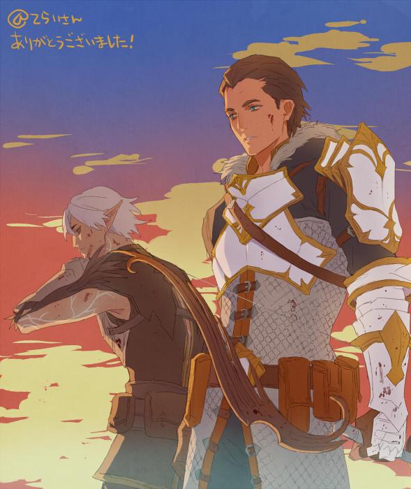 Tags: Anime, sakudada, Dragon Age 2, Dragon Age, Fenris, Sebastian Vael, Tumblr, Fanart