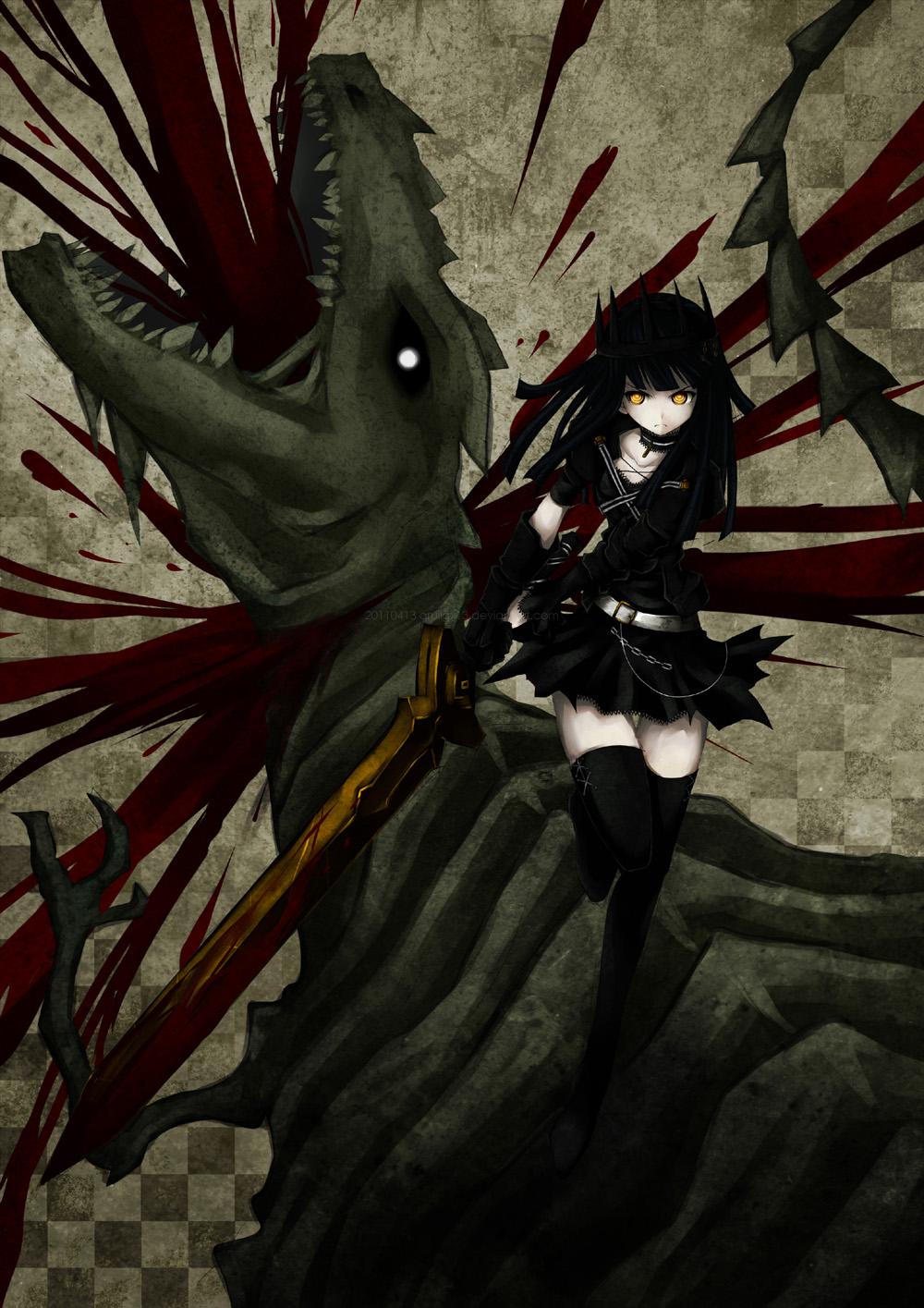 Критика Аниме BLACK★ROCK SHOOTER (Стрелок с Черной Скалы) .