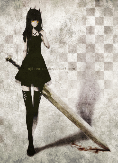 Tags: Anime, XjibunRock, Black★Rock Shooter, Dragon Slayer, Dried Blood, deviantART, Mobile Wallpaper, Fanart