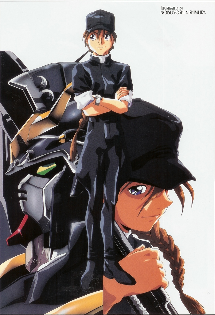 duo maxwell suit Mobile gundam wing